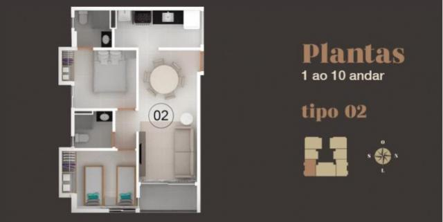 Apartamento à venda com 2 dormitórios em Bancários, João pessoa cod:006095 - Foto 2