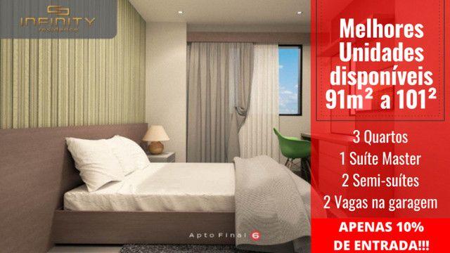 Apartamento Impecável, 3 Quartos Grandes, Sala Ampla, Lavabo e 2 Vagas - Foto 10