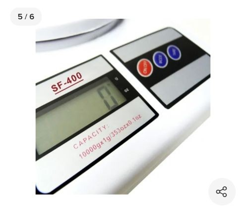 Balança Cozinha Digital 10kg Alta Precisão Dieta E Nutrição<br><br> - Foto 3