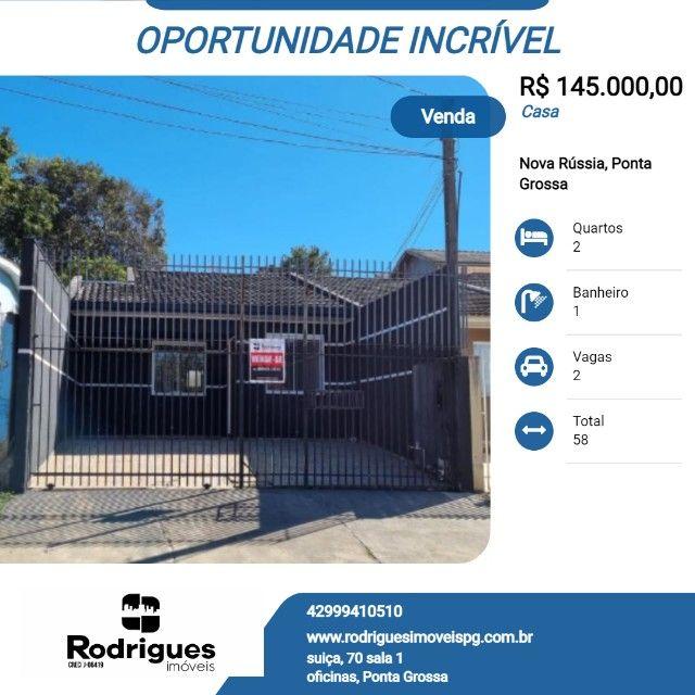 Residência na vila Cristina , 2 quartos ,garagem, gradil de 145 mil por 120 mil