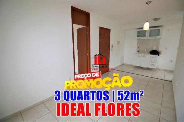 Condomínio Ideal Flores da Cidade, 3 quartos com 1 semi-suíte;