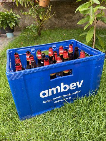 Caixa de cerveja com casco (completa)