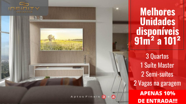 Apartamento Impecável, 3 Quartos Grandes, Sala Ampla, Lavabo e 2 Vagas - Foto 8