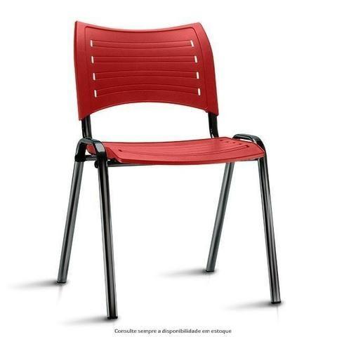 Cadeira fixa empilhável polipropileno colorido modelo Iso à vista dinheiro