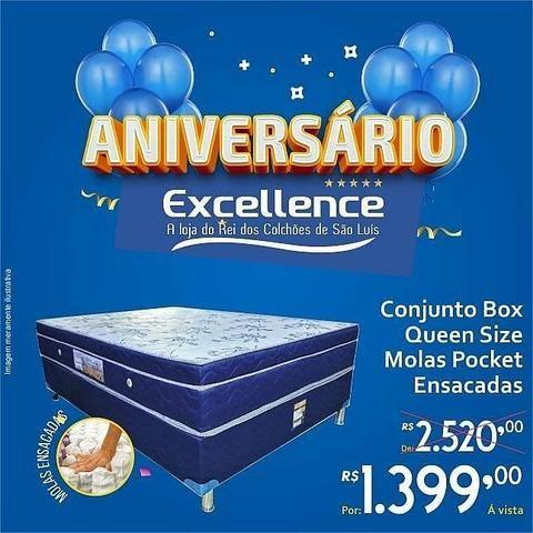 Cama box super king e queen siz (super oferta pra dormir bem) - Foto 2