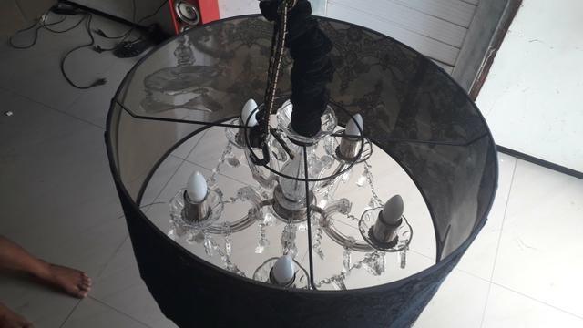 Lustre Mantra com 5 lampadas redoma estilo imperial - Foto 3