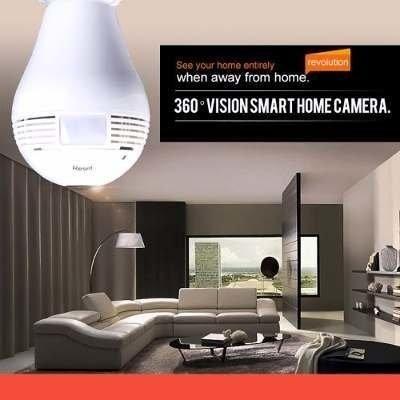 Lâmpada Espiã Câmera Ip Led Wifi Hd Panorâmica 360º Celular - Foto 2