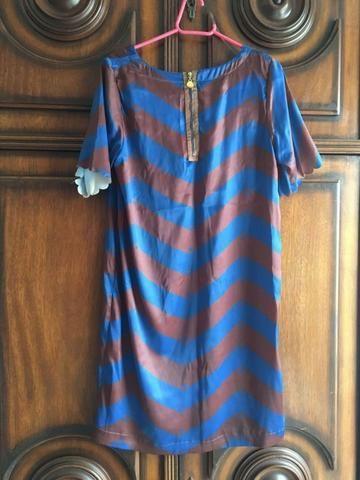 Vestido azul e marrom - Foto 2