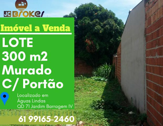 LOTE 300 m2 MURADO JÅ C/ PORTÃO E ÁGUA