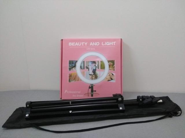 Ring Light 26cm + Tripé 1,60m + Tripé de mesa Entrega Grátis - Foto 2