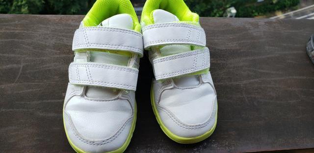 a8a6b8a18c9 Tênis adidas couro menina número 28 - Artigos infantis - Jardim ...