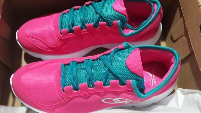 ee61430df3b Tenis olympikus feminino por 100 reais corra tamanho 34 e 35 promocao novo  na caixa
