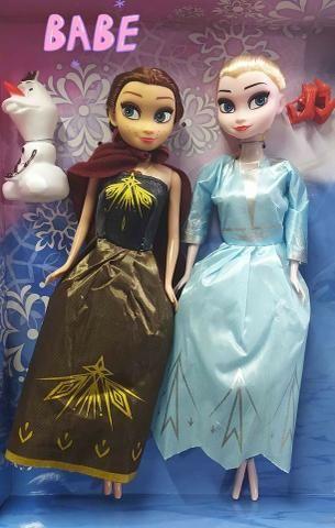 Bonecas Frozen 2 Kit Anna e Elsa Com Olaf Magic Princess