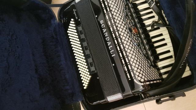 Gaita acordeon Scandalli S6 120 baixos italiana - Foto 3