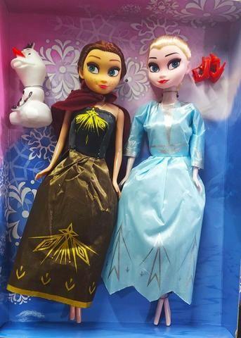 Bonecas Frozen 2 Kit Anna e Elsa Com Olaf Magic Princess - Foto 2