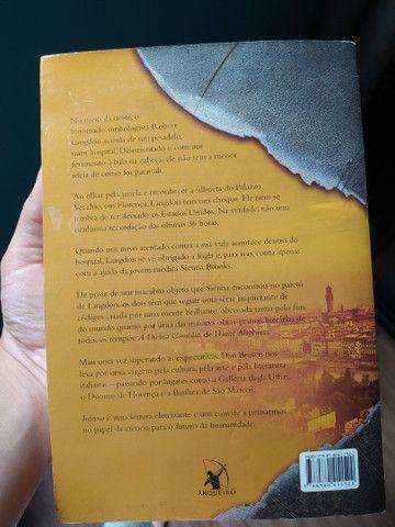 livro Inferno - saga O código da Vinci - Dan Brown - Foto 2