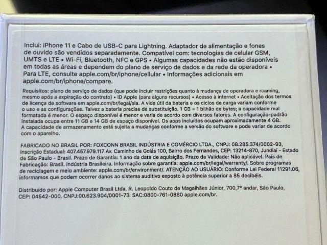 IPhone 11 Branco 256gb, NF + Garantia 1 ano, Anatel, Lacrado, Zero, Novo - Foto 3