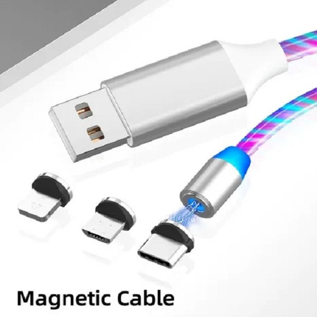 "Cabo Led Magnético Carregador ""Micro USB"""" - Foto 2"