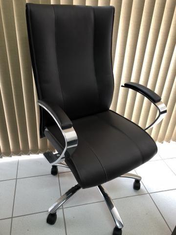 3 cadeiras executivas linha luxo