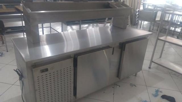 Balção Refrigerado Condimentadora Ar Forçado 100% Inox - Foto 2