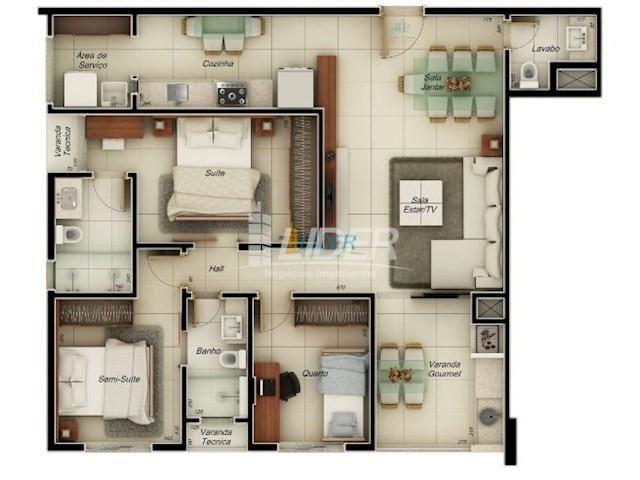 Apartamento à venda com 3 dormitórios em Santa mônica, Uberlândia cod:23327 - Foto 2