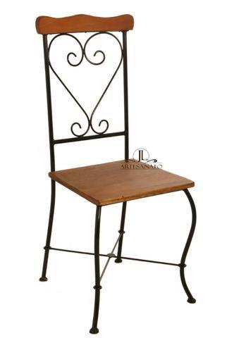 Cadeira de Jantar Ferro e Madeira