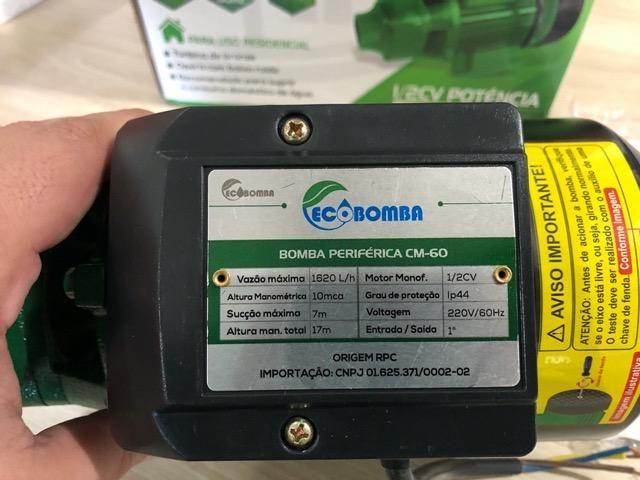Motobomba EcoBomba Sigma 1/2 HP (Produto Novo) - Foto 4