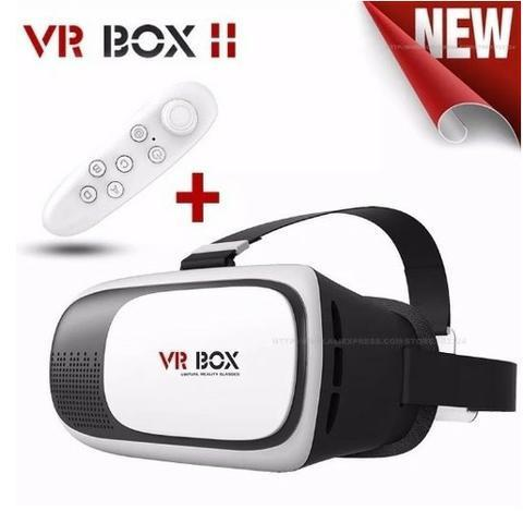 Compre-aqui-Oculos Vr 3D 2.0 Realidade Virtual + Controle - Foto 2