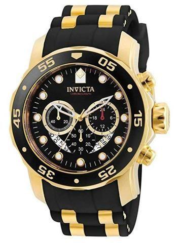 Relógio Invicta Pro Diver Dourado Masculino 6981 - NOVO - 10x s/ juros