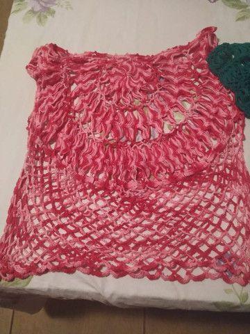 Blusinhas de crochê de grampo feito a mão - Foto 2