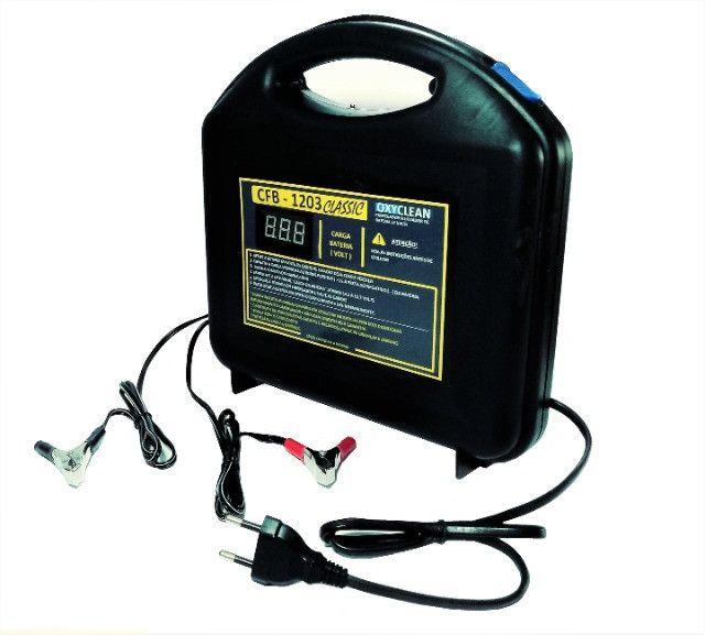 Carregador de Bateria de Carro e Moto 12V Flutuador Digital Automático - Foto 4
