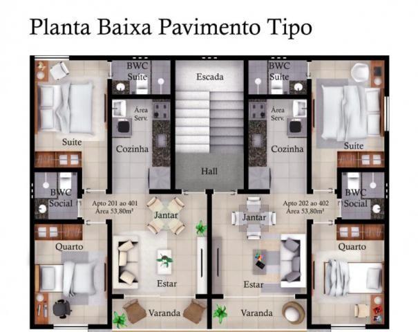 Apartamento à venda com 02 dormitórios em Valentina, João pessoa cod:009177 - Foto 9