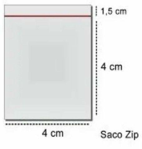 Saco ziplock  N°0 4x4cm - 100 unidades