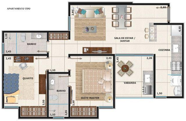 Apartamento 2 quartos (suíte) com varanda gourmet no Aeroporto - Pronto para morar!!! - Foto 10