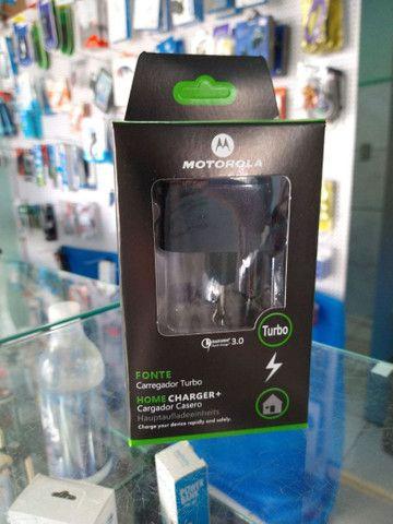 Carregador turbo Motorola (novo) entrego