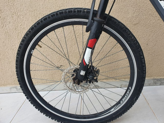 Bicicleta Aro 26 Freio Disco Fischer Runner Alloy Com Nota Fiscal - Foto 4