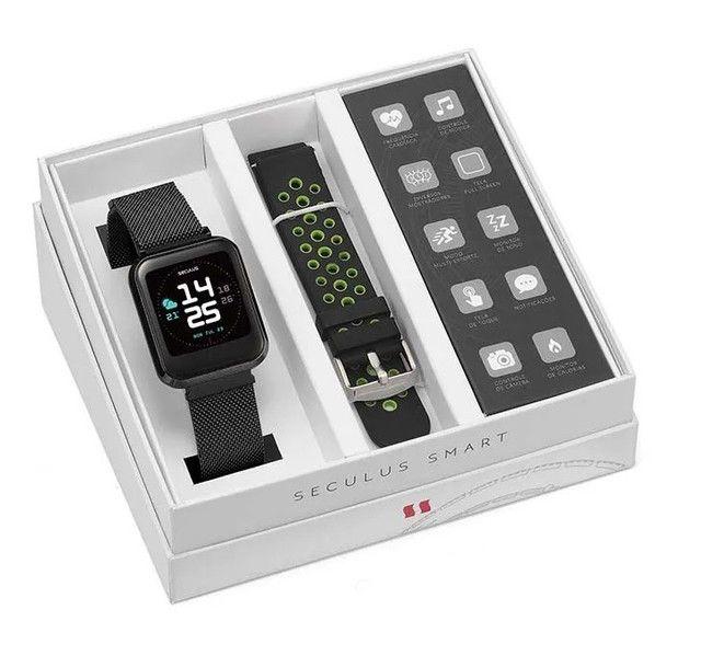 Smartwatch séculos preto - Foto 2