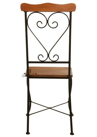 Cadeira de Jantar Ferro e Madeira - Foto 3