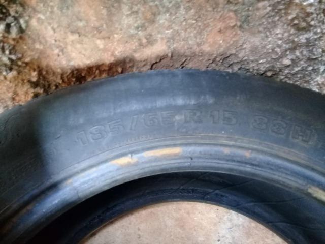 Pneus aro 15/ meia vida/ dois pneus por 120 reais/ * whatsapp - Foto 4