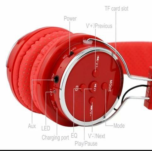Fone de Ouvido Headphone Bluetooth Micro Sd - Foto 2