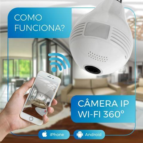 Lâmpada Espiã Câmera Ip Led Wifi Hd Panorâmica 360º Celular - Foto 4