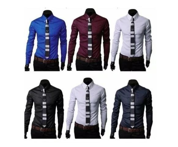 Camisa Social Slim Fit Masculina Promoção