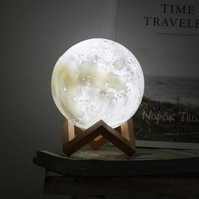Mini Luminária Lua Cheia 3d 15 Cm Usb Colorida - Foto 2
