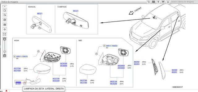 Luz indicadora de manobra LD Nissan Frontier 2012-2016 - Foto 2
