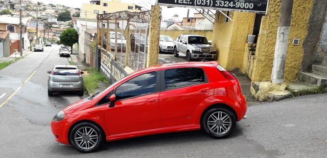 Fiat/ Punto sporting 1.8 2012 completo câmbio manual troco carro/moto - Foto 5