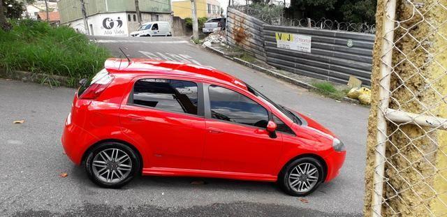 Fiat/ Punto sporting 1.8 2012 completo câmbio manual troco carro/moto - Foto 6