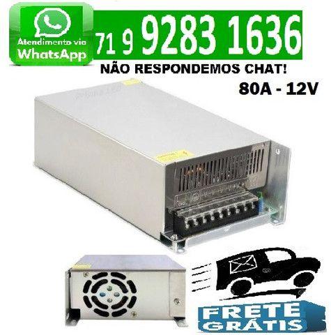 Fonte Chaveada 80A 12V 960W Bivolt Camera Som Cftv Fita Led