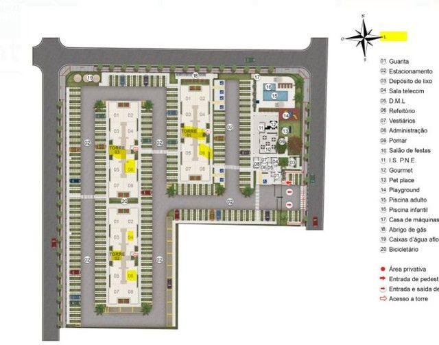 MRV Chapada dos Hibiscos Apartamento 2 quartos Morada do Ouro  - Foto 5