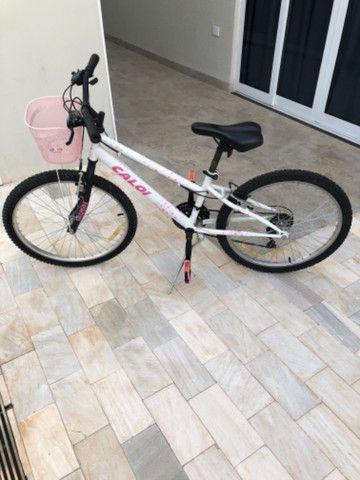 Bicicleta aro 24 esportiva Caloi 21 marchas  - Foto 3