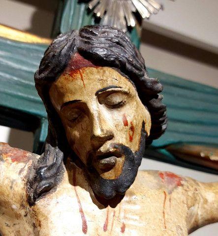 Crucifxo Antigo Cristo crucificado  - Foto 2